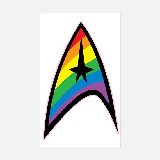 Star Trek LGBTQ Rainbow Sticker (Rectangle)