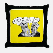 Hello Sailor Shower Curtain Throw Pillow