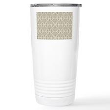 Damask Toupe Pattern Travel Mug