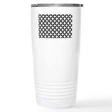 Retro Star Black and Wh Travel Coffee Mug
