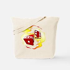 Flaming Dice Tote Bag