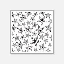 "Triple Star Paulie D Square Sticker 3"" x 3"""