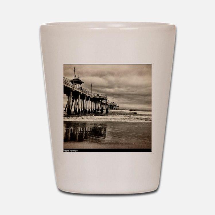 Huntington Beach CA Pier Shot Glass