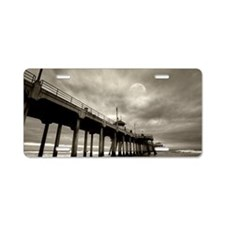 Huntington Beach surf by ni Aluminum License Plate