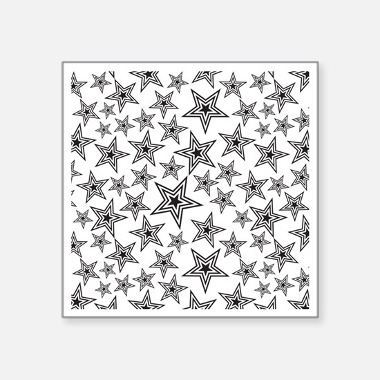 "Triple Star Paulie D Square Sticker 3"" x 3"""