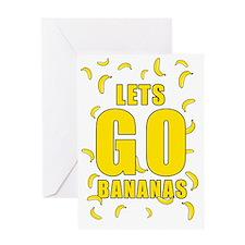 Lets Go Bananas Greeting Card