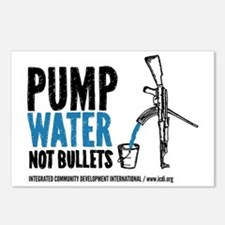 Pump Water Not Bullets Postcards (Package of 8)