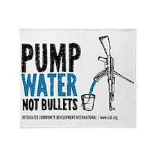 Pump Water Not Bullets Throw Blanket
