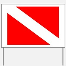 Dive Flag Yard Sign