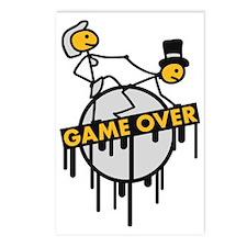 game_over_bachelor_graffi Postcards (Package of 8)