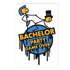 game_over_bachelor_party_ Postcards (Package of 8)