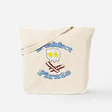 Vintage Breakfast Pirate Tote Bag