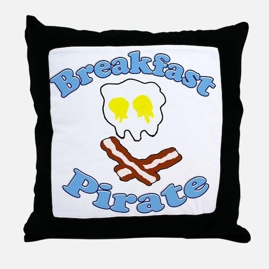 Breakfast Pirate Throw Pillow