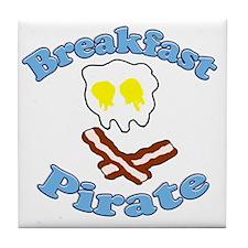 Breakfast Pirate Tile Coaster
