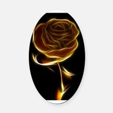 rose-81828 Oval Car Magnet