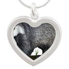 European Badger Silver Heart Necklace