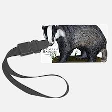 European Badger Luggage Tag