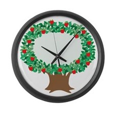 Apple Tree Large Wall Clock