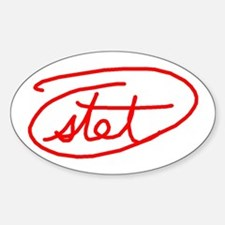 Stet Sticker (Oval)