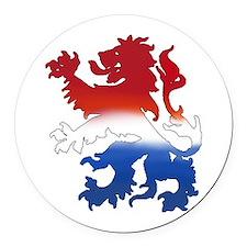 Dutch Lion Round Car Magnet