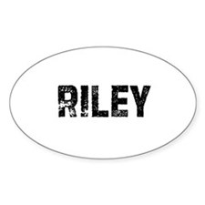 Riley Oval Decal