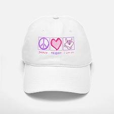 Peace Heart ily Baseball Baseball Cap