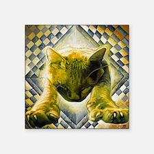 "Shrodengers Cat Square Sticker 3"" x 3"""