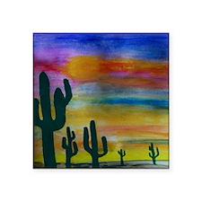 "Painted Desert Square Sticker 3"" x 3"""