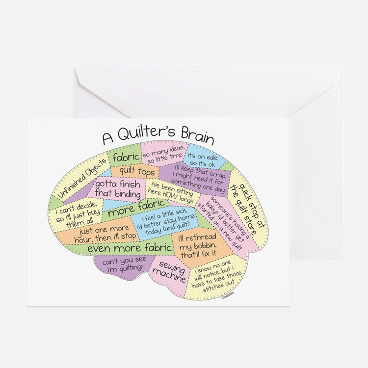 Quilters Brain Greeting Card