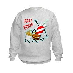 Running Fast Food Sweatshirt