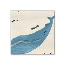 "Blue Whale Square Sticker 3"" x 3"""
