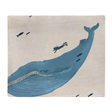 Blue Whale Throw Blanket