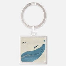 Blue Whale Square Keychain