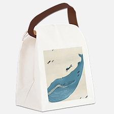 Blue Whale Canvas Lunch Bag