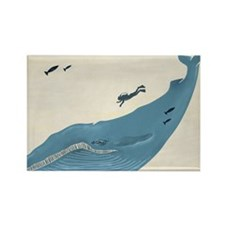 Blue Whale Rectangle Magnet