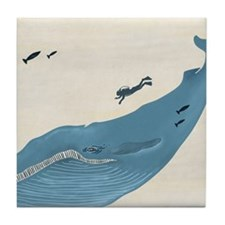 Blue Whale Tile Coaster