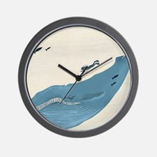 Blue Whale Wall Clock