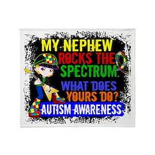D Nephew Rocks The Spectrum Autism Throw Blanket