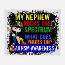 D Nephew Rocks The Spectrum Autism Throw Blanket