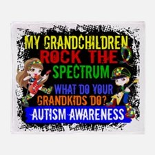 D Grandchildren Rock The Spectrum Au Throw Blanket