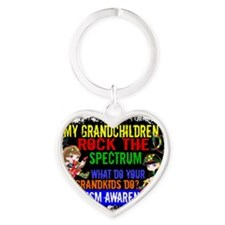 D Grandchildren Rock The Spectrum A Heart Keychain