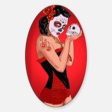Skull Love - dia de los muertos Pin Decal