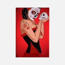 Skull Love - dia de los muertos P Rectangle Magnet