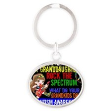 D Granddaughters Rock The Spectrum A Oval Keychain