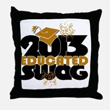 2013 Educated Swag Confetti Throw Pillow