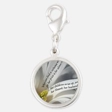 Proverbs 31 Mother Silver Round Charm
