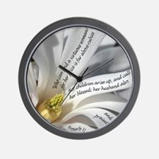 Proverbs 31 Mother Wall Clock