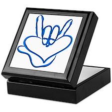 I love you - Electric blue Keepsake Box