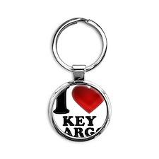 I Heart Key Largo Round Keychain