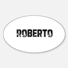 Roberto Oval Decal